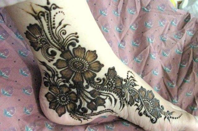 Mehndi For Foot : Bridal foot beautiful mehndi style 03 stylecry: dresses