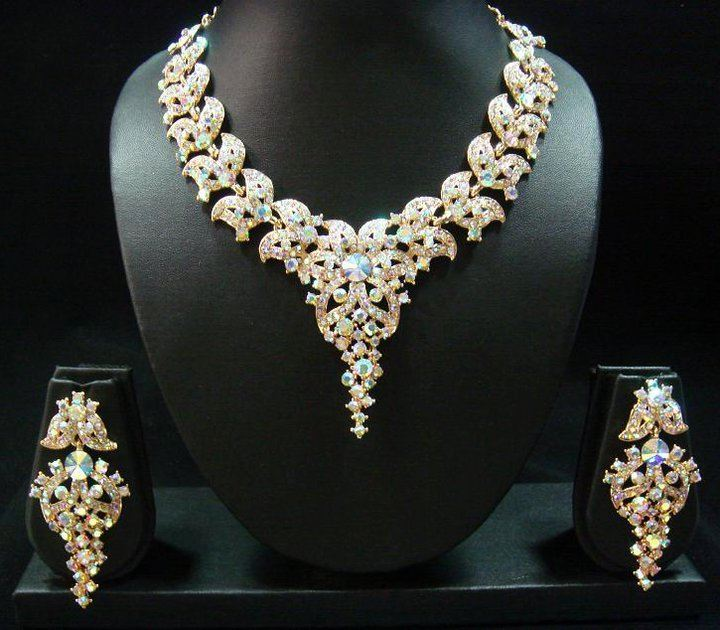 Colorful Stone Studded Jewelry Sets 2012