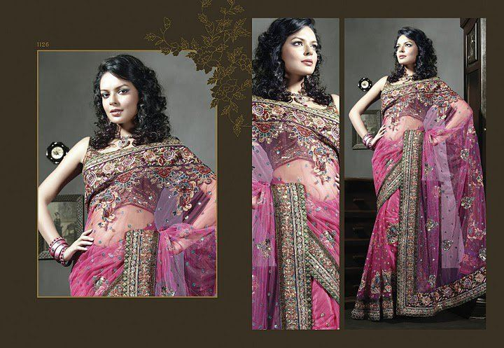 Rajasthani Chiffon Saree with Matching Pallu