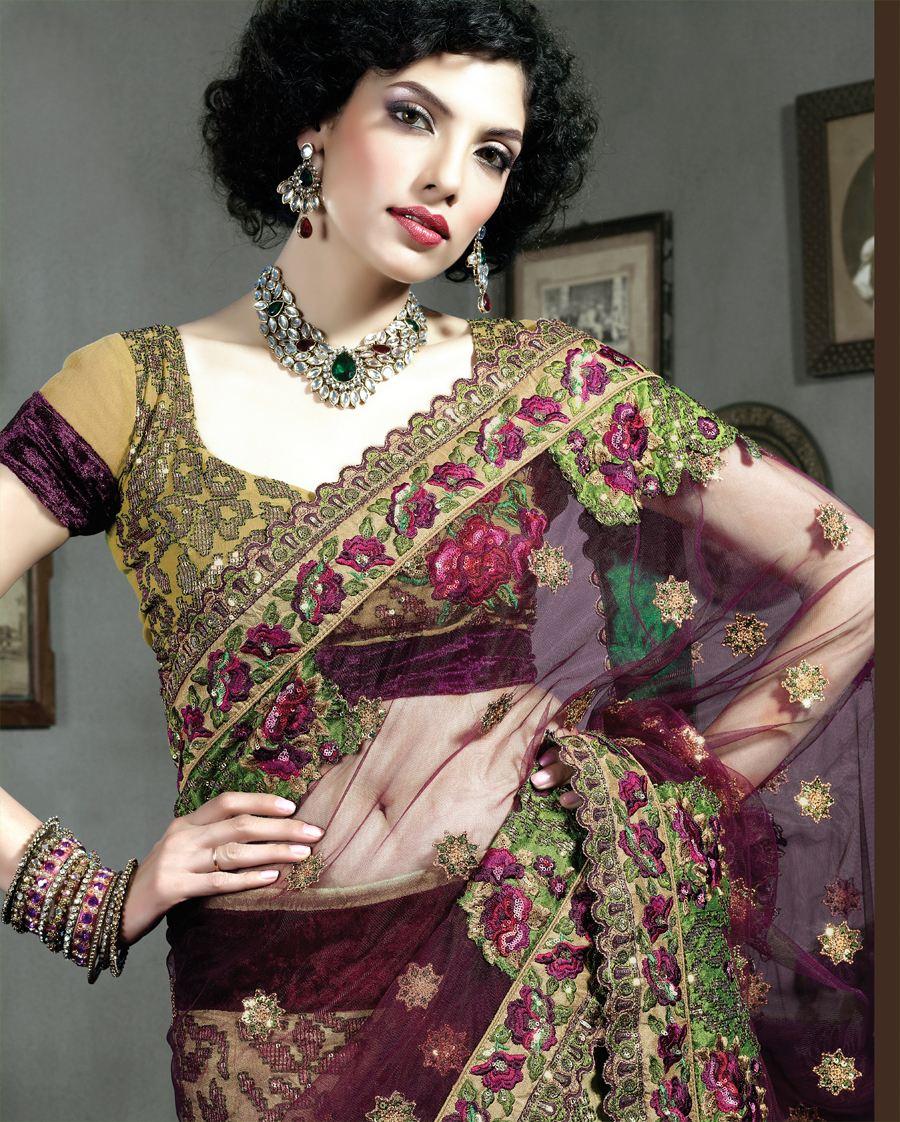 Heavy Embeoidery Sari 2012