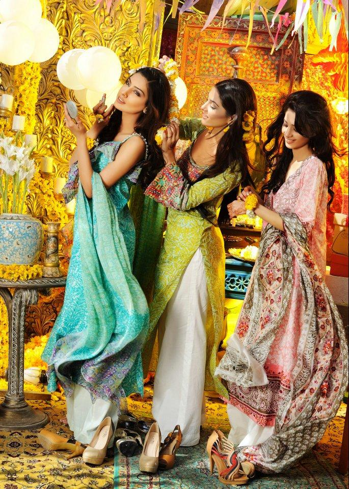 Colorful Mehndi Dresses
