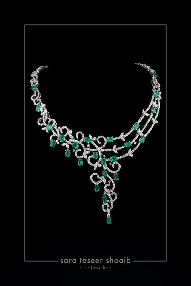Diamond Jewelry by Sara Taseer Shoaib | FashionStyleCry: Bridal ...
