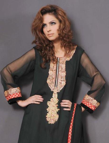Fauzia Amir Long A-Line Shirts Photo Shoot