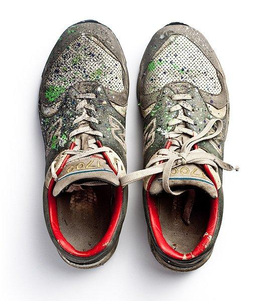 Rough Look Graffiti Sneakers