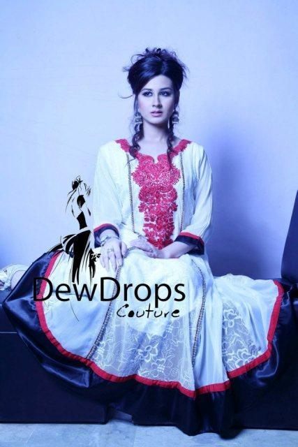 Elegant Dewdrops Couture Casual Wear