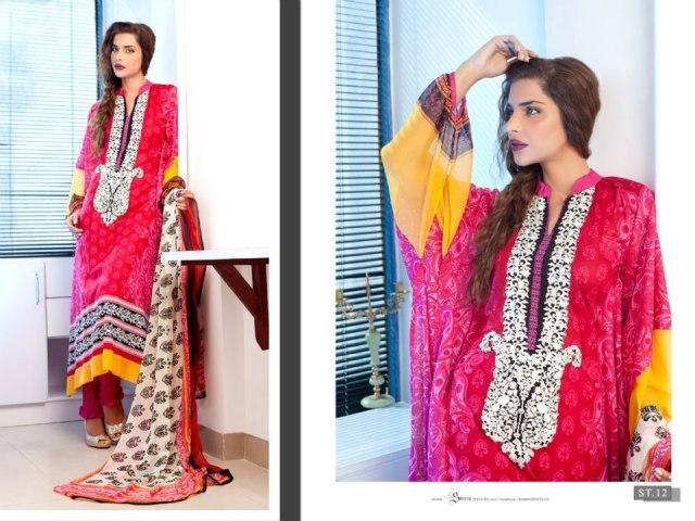 Feminine Designer Embroidered By Shariq Textiles