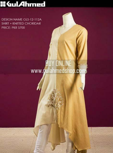 Gul Ahmed Women`s Special Lawn Shirts, Knitted Choridar