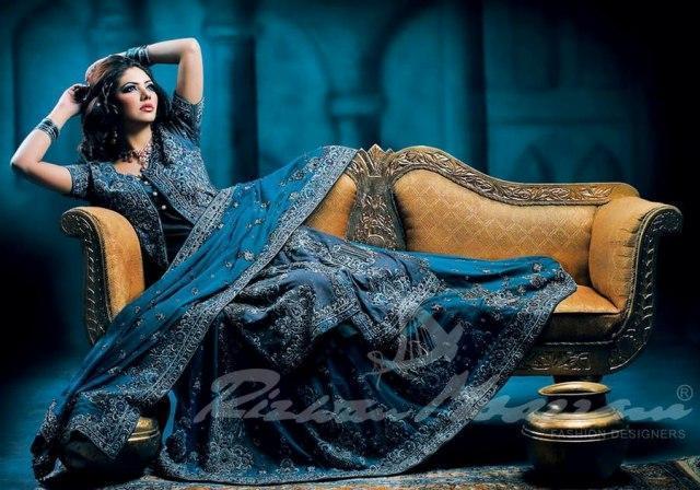 Indo Pak Bridal Multi Color Lehenga Outfits