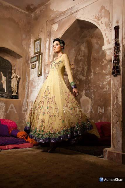 Bridal & Wedding Party Outfits Raeesah & Gold By Adnan Khan