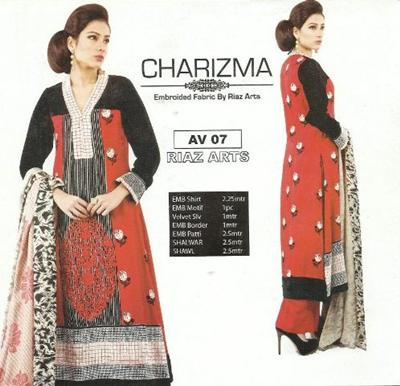 Charizma Winter Elegant Embroidered Fabrics 2012 For Women, Vol-2