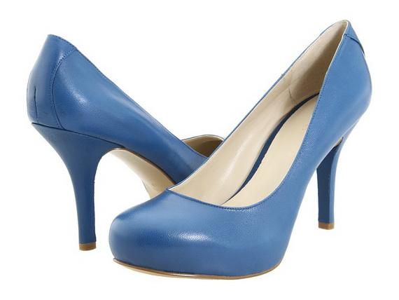 Elegant Blue High Heels