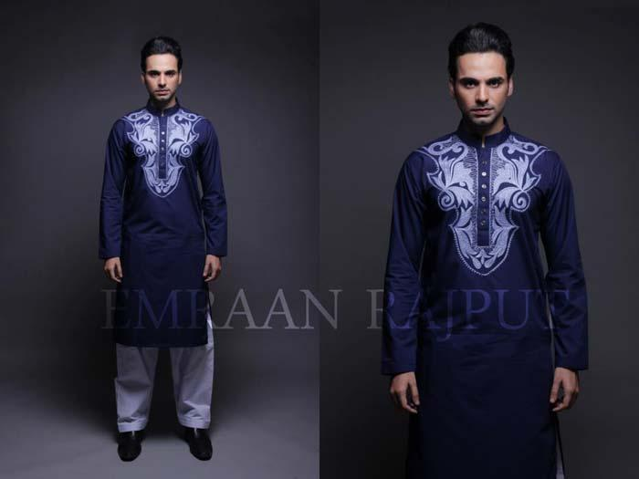 Emraan Rajput Men's Embroidered Kurta