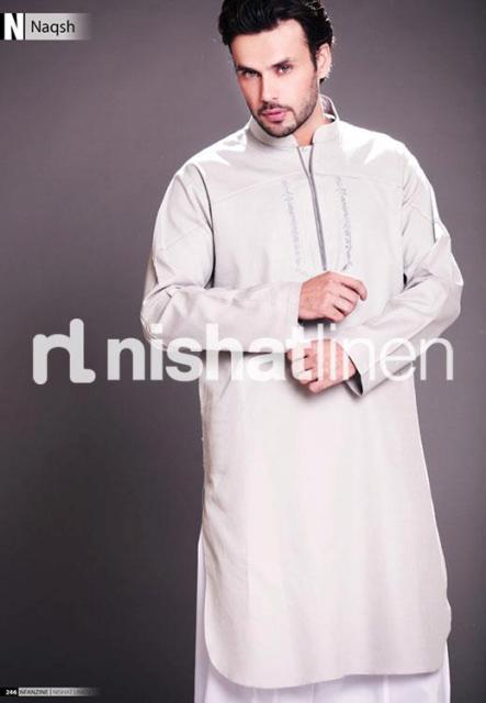 Naqsh Men's Winter Kurta Shalwar Collection by Nishat Line