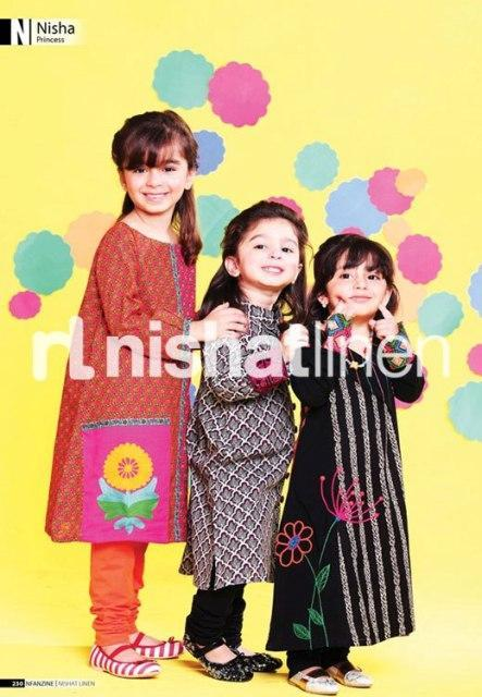 Nisha- Naqsh Childeren`s Winter Outfit`s Collection 2012-13 By Nishat Linen