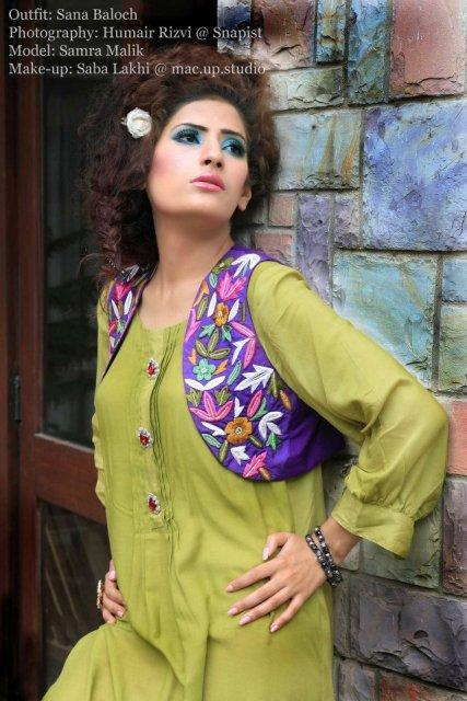 Sana Baloch Women's Party Wear Fashion Outfits
