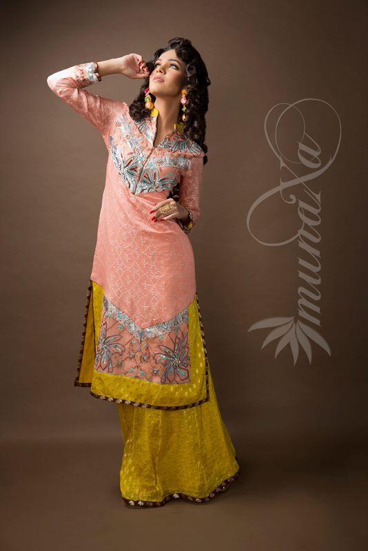 Party Fancy Dress Designs By Munaxa 2013 3 | StyleCry: Bridal ...