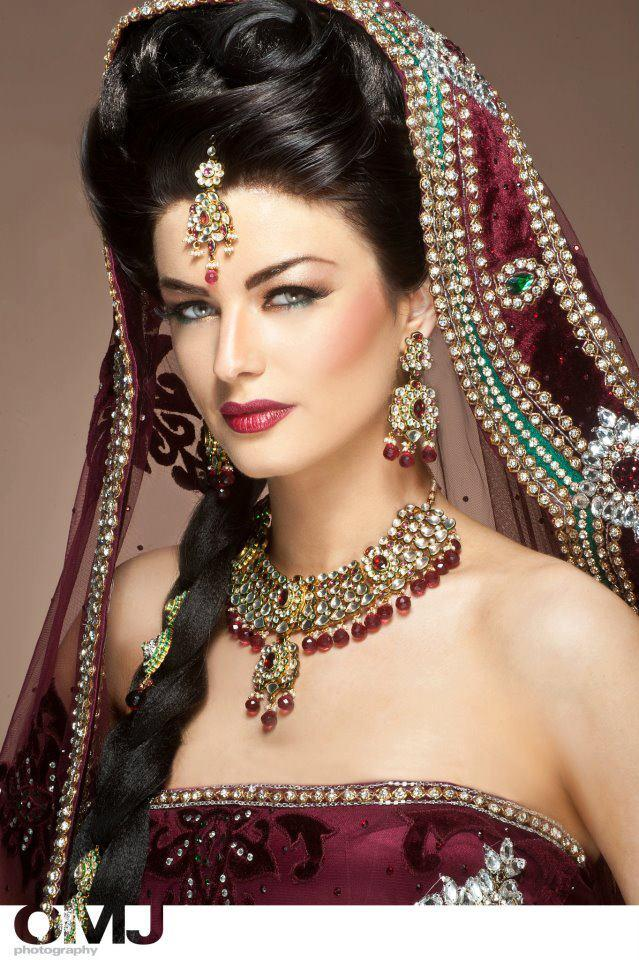 Terrific Arpita Asian Bridal Makeover By Omj 7 Stylecry Bridal Dresses Hairstyle Inspiration Daily Dogsangcom