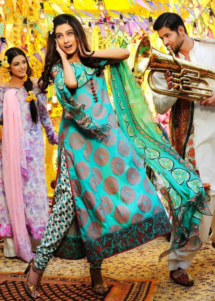 Bridal Mehndi Photo Shoot : Bonanza lawn khawar riaz bridal mehndi shoot stylecry