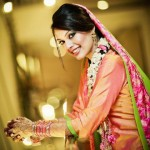 Bridal Mehndi Dress And Makeup - Perfect Look