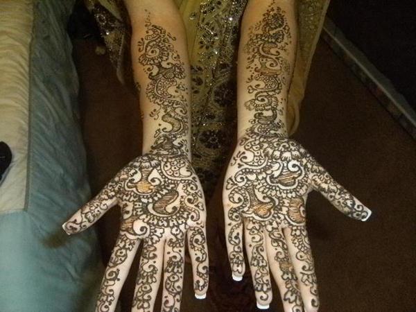 Full Arm Mehndi Designs : Full hand and arm bridal mehndi designs by arpita karania26