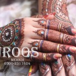 Glitter Mehndi Design For Bridals By Uroos Mehndi