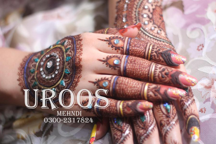 Mehndi Designs Open : Glitter mehndi design for bridals by uroos