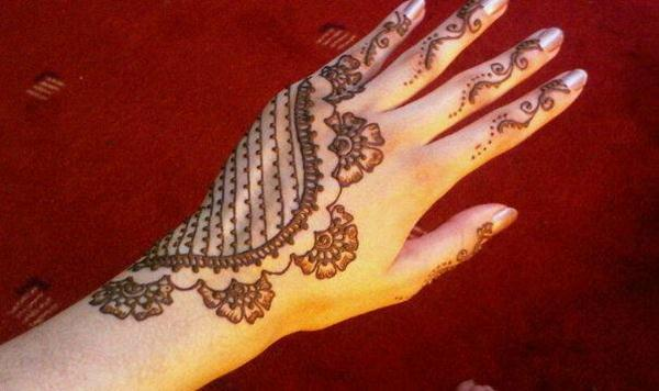 Mehndi Easy Design : Bridal full hand mehndi designs for girls by nikaah