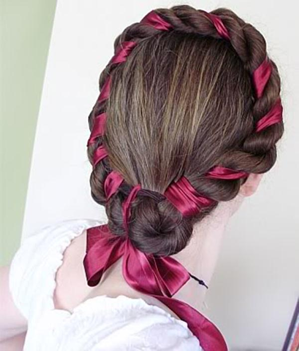 Curly Hair With Rope Braid 3 Stylecry Bridal Dresses