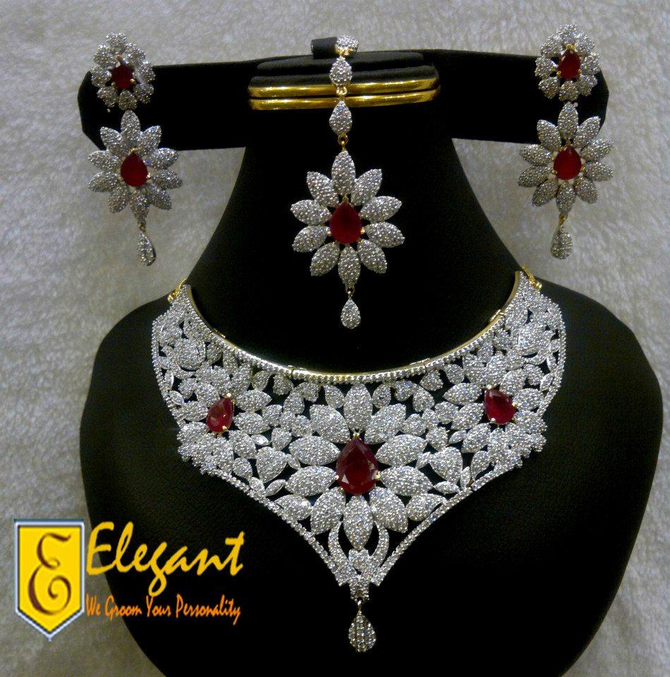 Elegant Artificial Jewellery Zirconia Bridal Sets ...