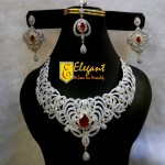 Elegant Artificial Jewellery Zirconia Bridal Sets