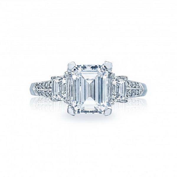 tacori white diamond engagement and wedding rings for
