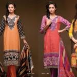 Double Sided Printed Dupatta Khaddar Dress