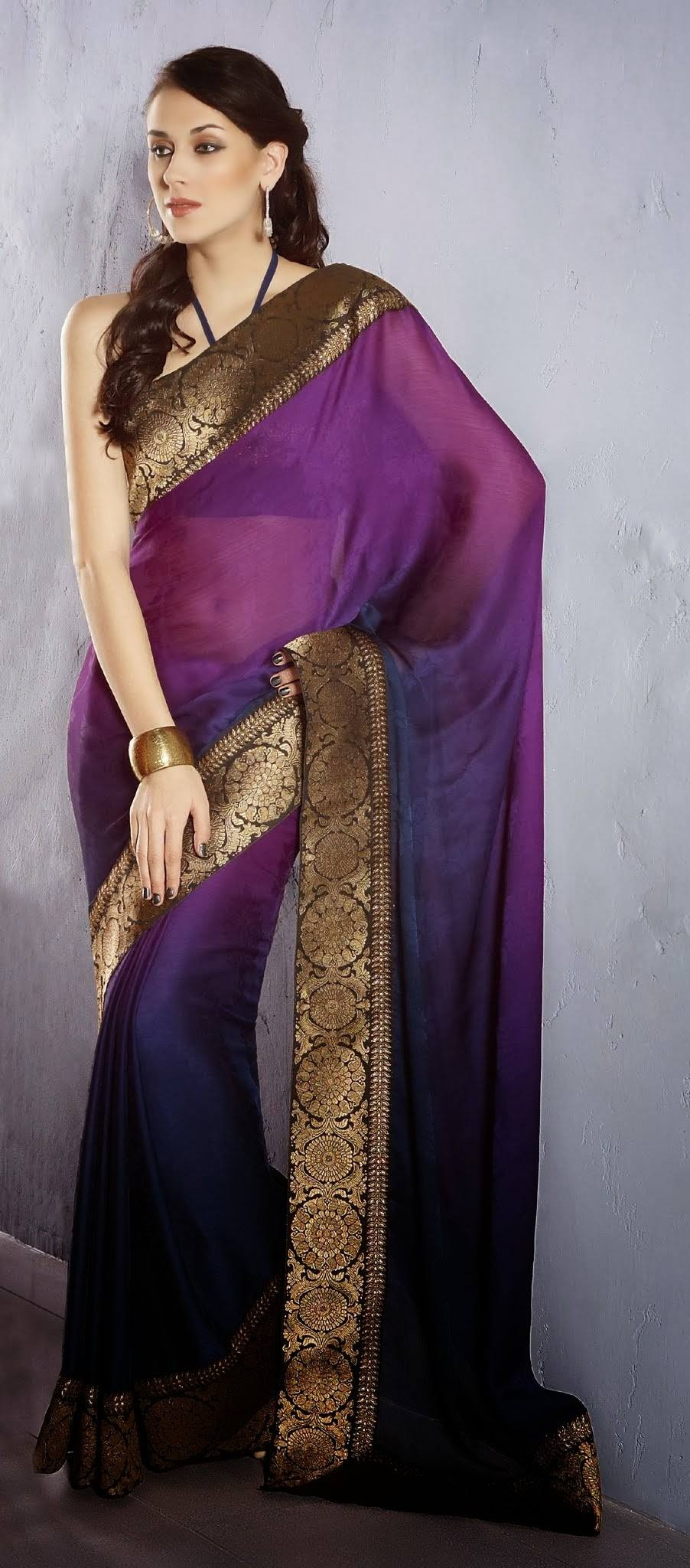 Classic Saree For Young Girls New Collection 2014 | FashionStyleCry ...