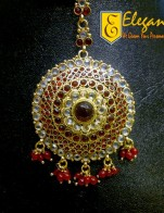 Elegant Artificial Jewellery Head Pin And Maang Tikka