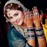 Persian Mehndi Flower Design For Bridals