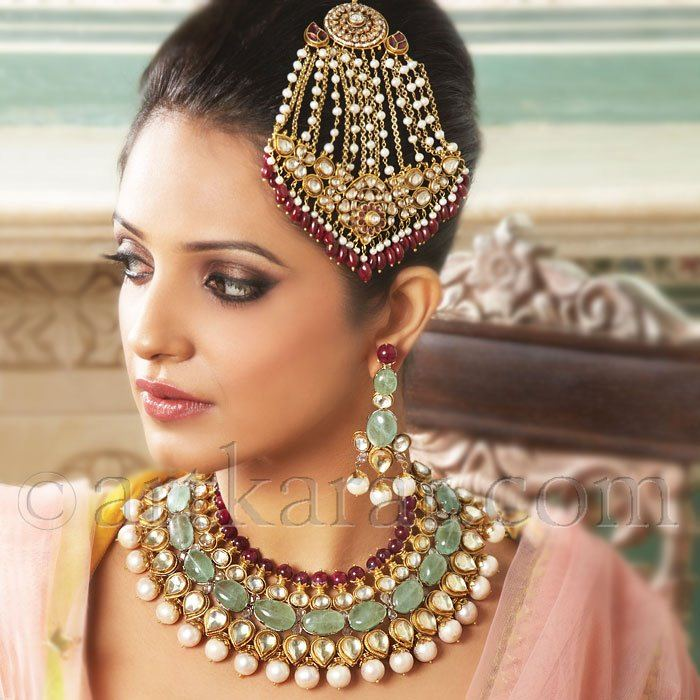 Queens of the mughal empire art karat 4 stylecry bridal for Indian jewelry queens ny