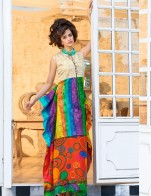 Rainbow Long Printed sleeveless skirts and shirts Fashion