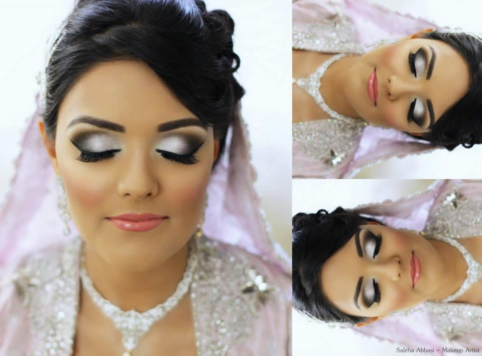 Makeup For Mehndi Night : Shimmery smokey and glitter eyes showed new styles makeup