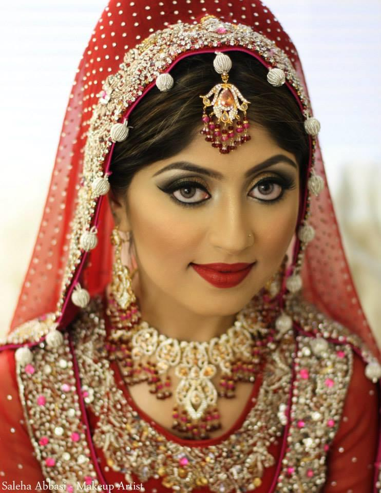 Different Types Of Bridal Makeup : Shimmery Smokey And Glitter Eyes Showed New Styles Makeup ...