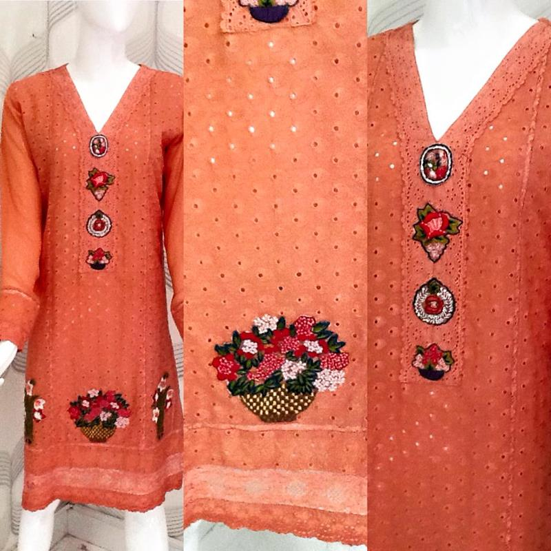 Embroidered Shirts Handmade For Girls